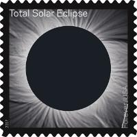 Mỹ phát hành tem biến hình đón nhật thực toàn phần