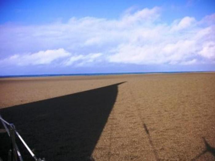Lớp cát dày như sa mạc vậy.