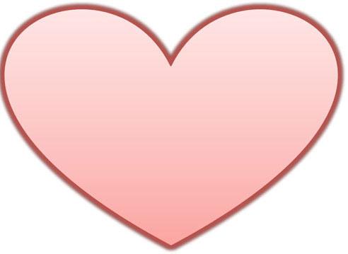 Biểu tượng trái tim mà ta thường thấy.