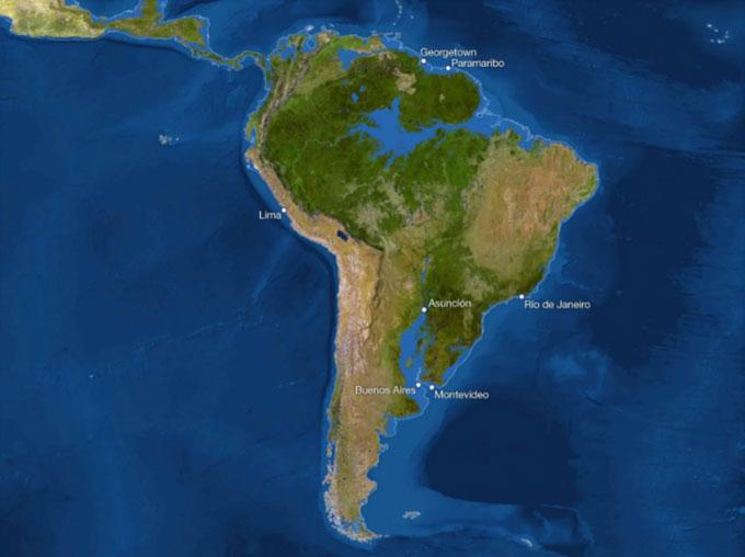 Thành phố Buenos Aires, vùng duyên hải của Uruguay và phần lớn Paraguay đều chìm dưới nước biển.