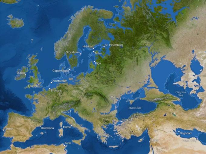 Ở châu Âu, thủ đô London, Anh sẽ biến mất.