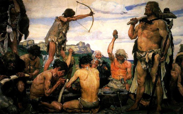 Xã hội phát triển, và con người có một lượng nhân lực lớn để bắt đầu chiến tranh.