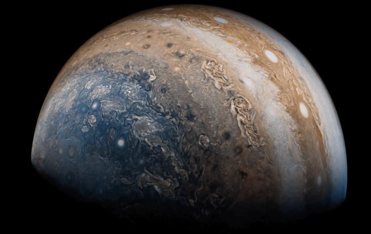 Cực nam của Sao Mộc được tàu Juno chụp vào ngày 19 tháng 5