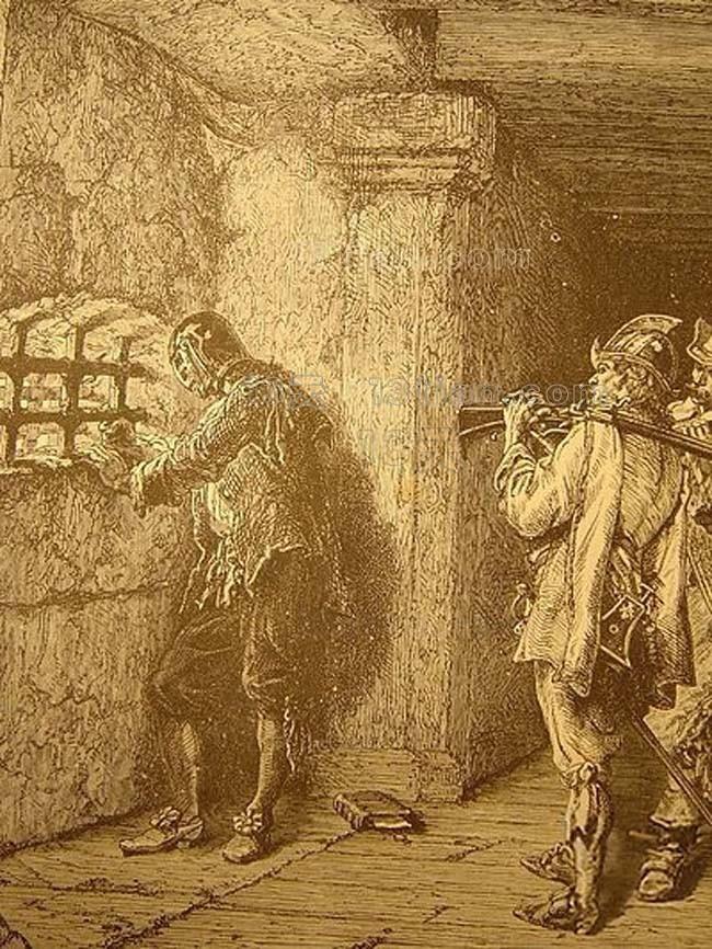 Người đàn ông đó có thể là một người hầu, nhưng lý do tại sao ông ta bị giam giữ trong tù vẫn là một ẩn số.