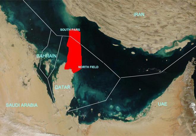 Mỏ khí đốt North Field của Qatar.