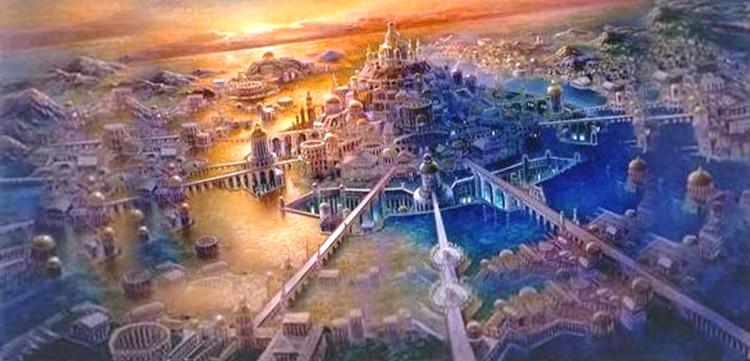 Theo các mô tả, Atlantis là một kỳ quan kiến trúc, với những công trình to lớn được xây dựng quanh đồi Cleito