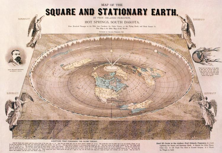Tấm bản đồ 120 năm tuổi chứng minh lý luận trái đất là phẳng