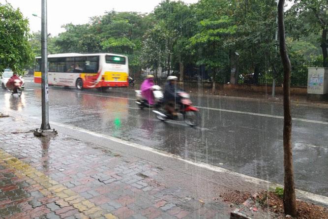 Dự báo mưa sẽ còn tiếp diễn tại miền Bắc đến hết ngày 20/6.