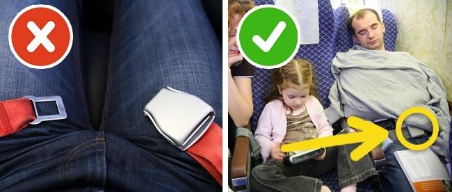 Kể cả khi đang ngủ, bạn cũng không nên tháo dây an toàn.