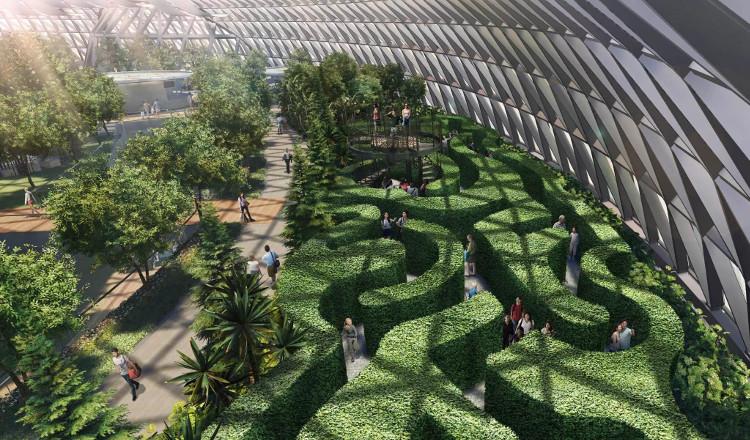 Thiết kế chính của Jewel Changi sẽ là thung lũng rừng với 5 khu vườn bách thảo.