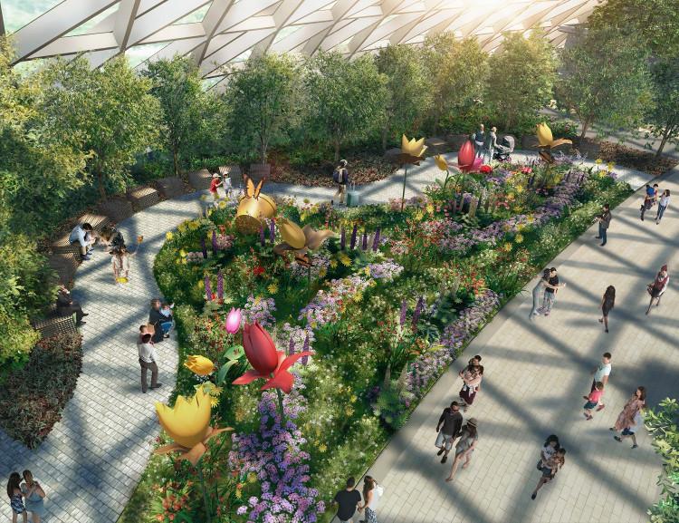 Công viên Canopy cũng sẽ có đầy đủ vườn cây, lối đi bộ, sân chơi...