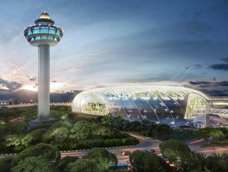 Công trình xây dựng một thành phố mới bên trong sân bay Changi.