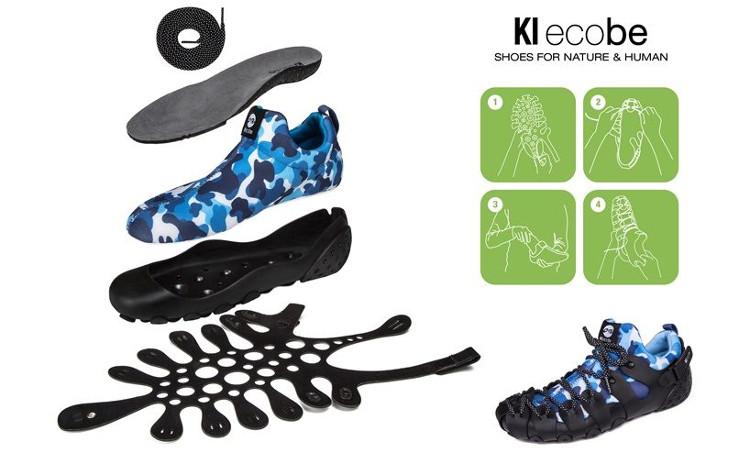 Các bộ phận của 1 đôi Ki Ecobe.