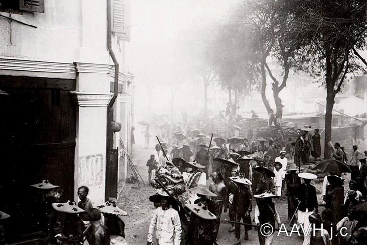 Một đám rước của người Hoa, 1904.