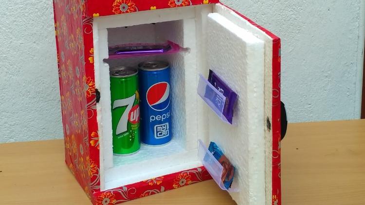 Tủ lạnh mini tự chế cực nhanh và dễ dàng.