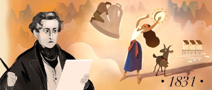 Victor Hugo cùng các tác phẩm nổi tiếng được Google kỷ niệm