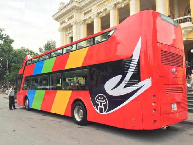Xe buýt 2 tầng đầu tiên mang tên City Tour sẽ được chạy thử nghiệm vào sáng nay.