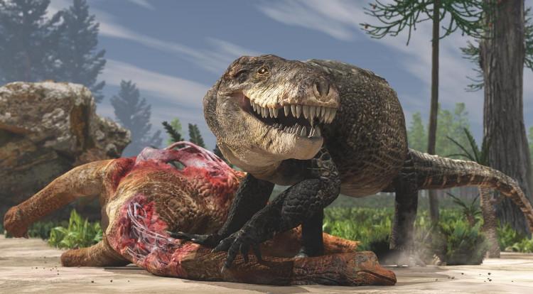Hình dáng phục dựng của cá sấu kỷ Jura.