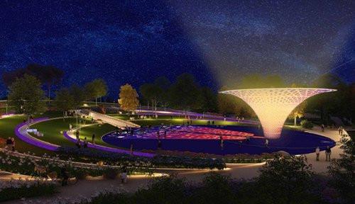 Quảng trường Vụ Nổ Lớn (Big Bang) tại Công viên Thiên văn học.