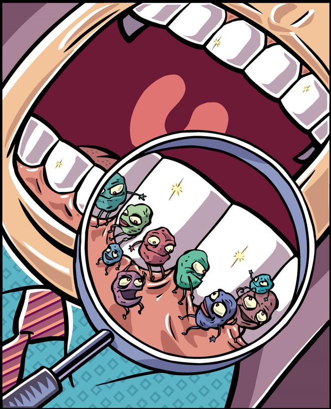 Trung bình có hàng tỷ con vi khuẩn đang tồn tại trong khoang miệng mỗi người.