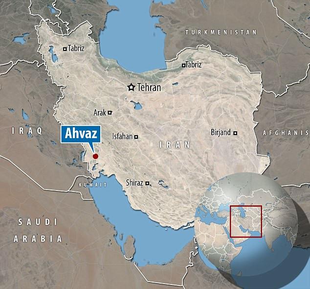 Thành phố Ahvaz có nhiệt độ lên tới 53,7 độ C vào ngày 29/6/2017.
