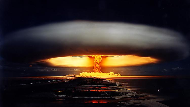 Một vụ nổ bom hạt nhân kinh hoàng.