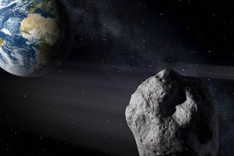 Minh họa một tiểu hành tinh gần Trái Đất.