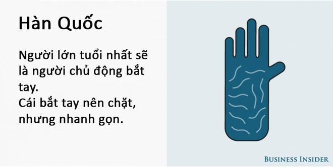 Cách bắt tay của người Hàn Quốc