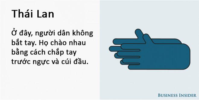 Cách bắt tay của người Thái Lan