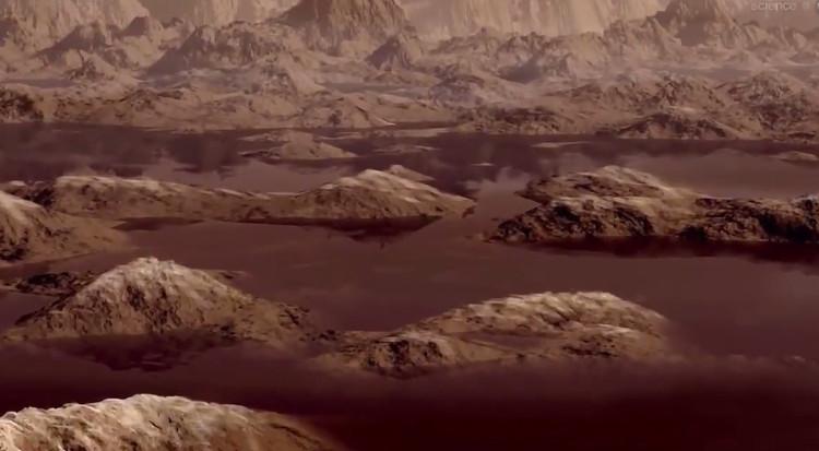 Các mảng chất lỏng trên Titan không giống như trên Trái đất.