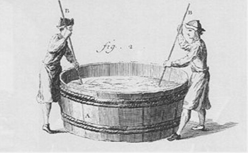 Người Trung cổ sử dụng nước tiểu để giặt giũ quần áo bẩn.