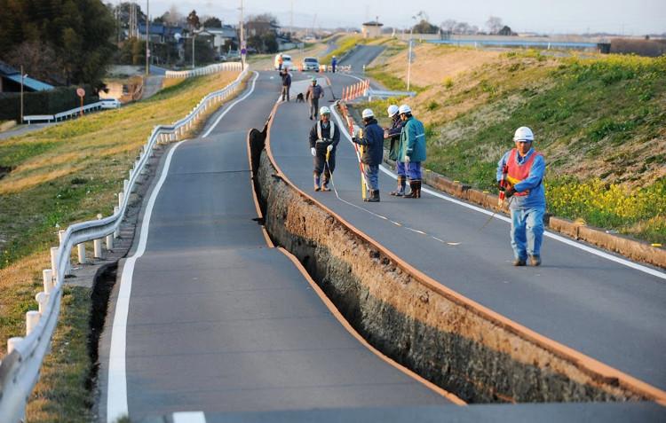 Mỗi năm ở Nhật Bản có khoảng 1.500 trận động đất xảy ra.
