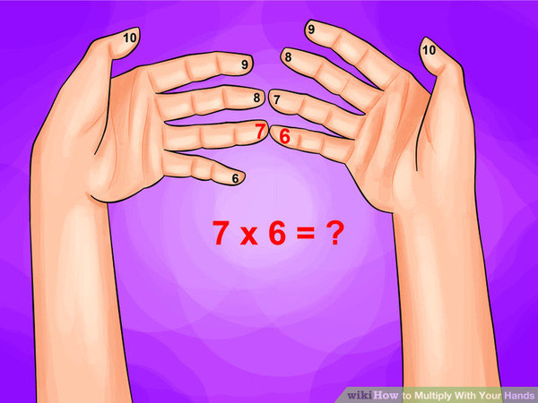 Cách tính nhẩm dùng 10 ngón tay.