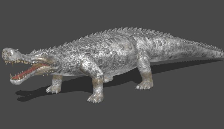 Hình ảnh phục dựng cá sấu Sarcosuchus.