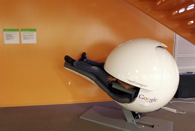 Thiết bị ngủ độc đáo tại văn phòng Mountain View của Google.