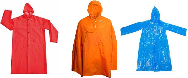Các mẫu áo mưa phổ biến hiện nay.
