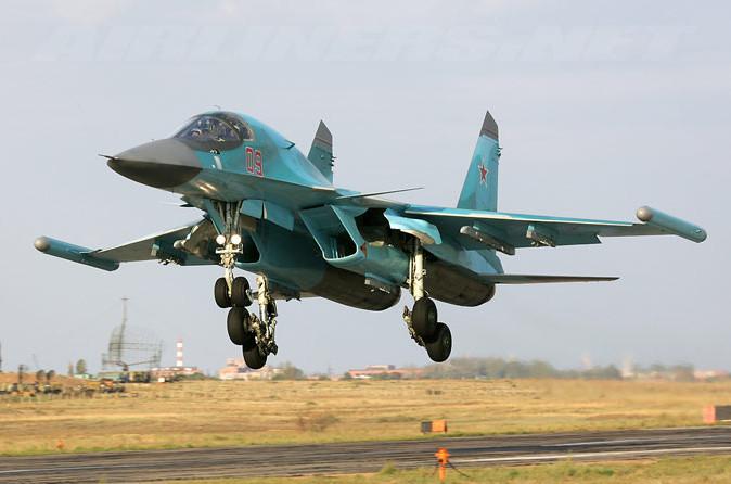 Máy bay chiến đấu SUKHOI Su-34 của Nga.