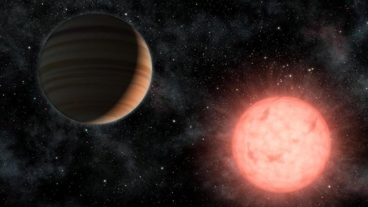 Một hành tinh quay quanh sao lùn loại M.