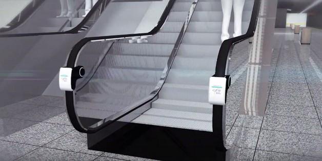 Thiết bị có thể lắp đặt dễ dàng tại mọi thang cuốn và hoạt động ngay khi thang cuốn bắt đầu chạy.
