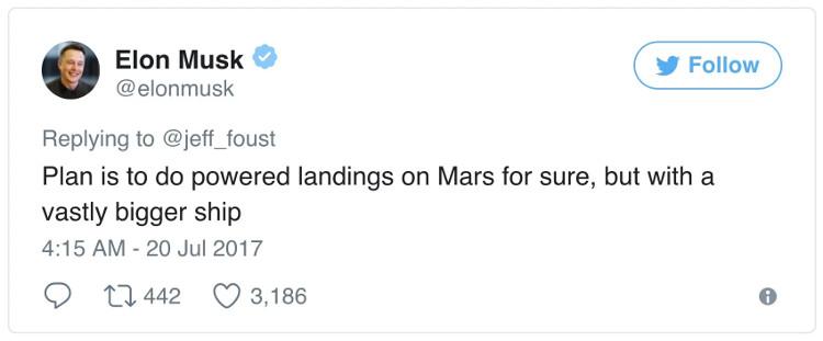 Thông báo của Elon Musk.