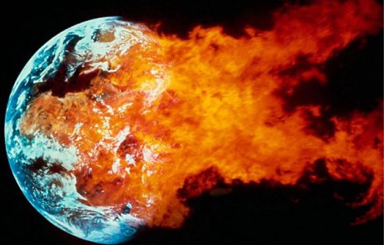Ảnh minh họa Trái đất bị năng lượng tối thiêu đốt