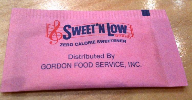 Sản phẩm đường nhân tạo như Sweet'n Low