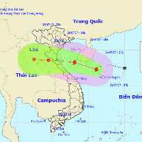 Bão Sonca giật cấp 10 hướng vào Thanh Hóa - Quảng Bình