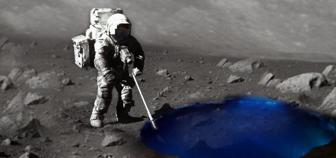 Nước có vẻ như đang mắc kẹt trong lớp đá núi lửa trên bề mặt của Mặt trăng.