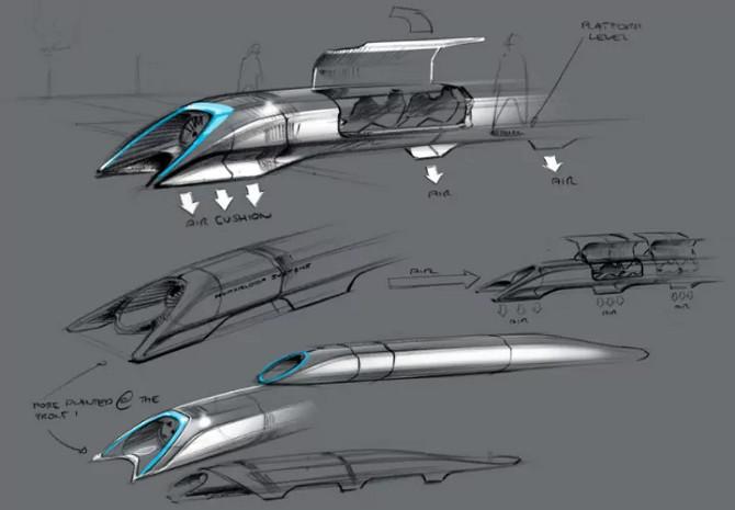 Những thiết kế ban đầu cho Hyperloop.
