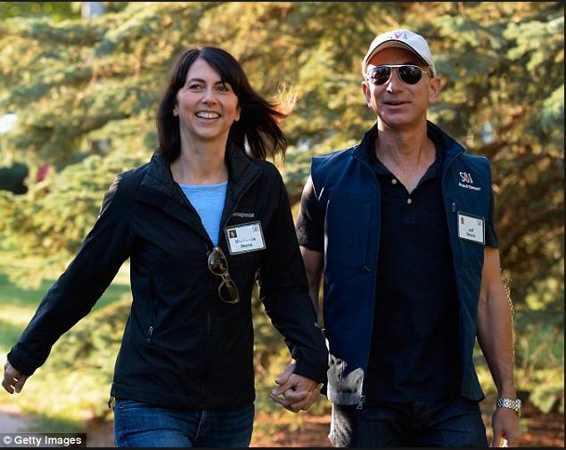 MacKenzie và Jeff Bezos.