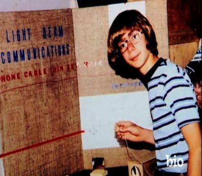 Jeff Bezos thời niên thiếu.