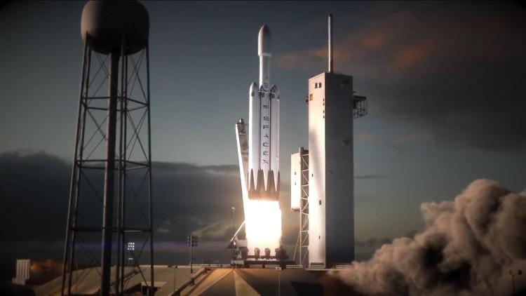 Tên lửa hạng nặng Falcon Heavy dự kiến được phóng vào tháng 11 tới.