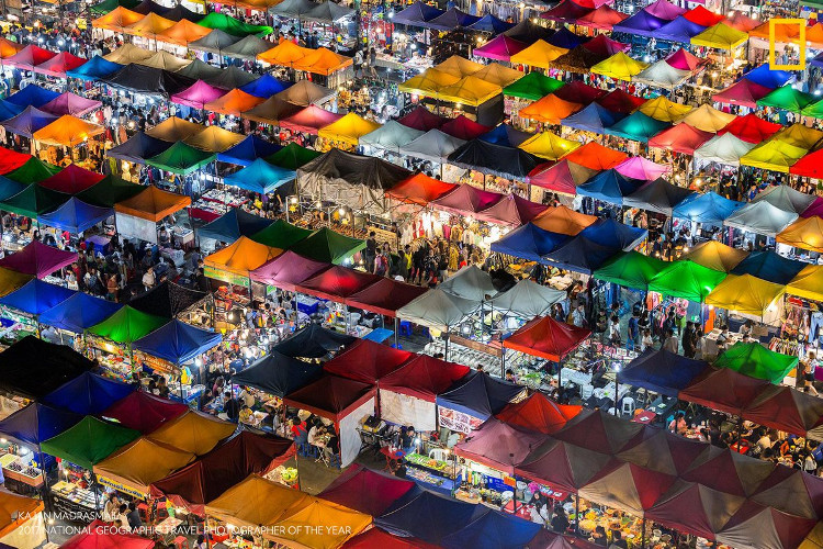 Colorful Market, Bangkok, Thailand