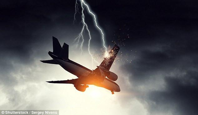 Máy bay bị sét đánh trúng là khá phổ biến.